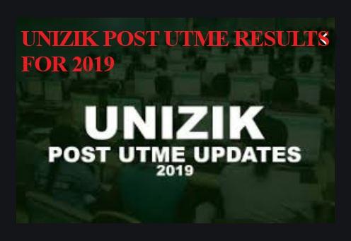 UNIZIK POST UTME RESULTS