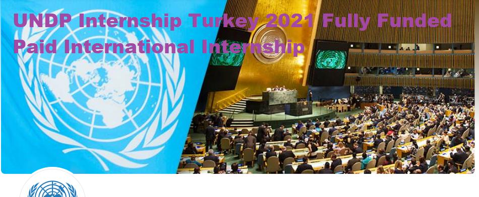 UNDP Internship Turkey 2021 Fully Funded Paid International Internship
