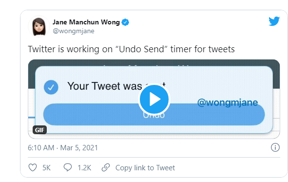 Twitter Is Testing on an 'Undo Send' Button Feature